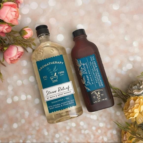 Bath and body work bbw stress relief aromatherapy